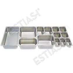 Λεκάνες gastronorm ανοξείδωτες (GN)