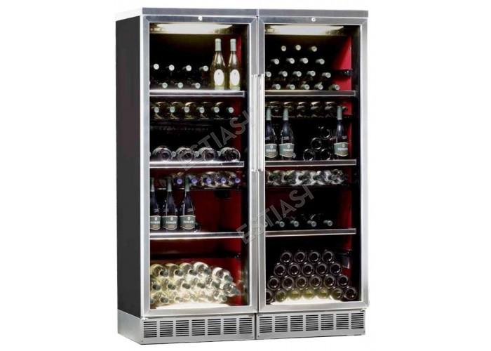 Ψυγείο-συντηρητής κρασιών με ανοιγόμενες πόρτες IP CI2501