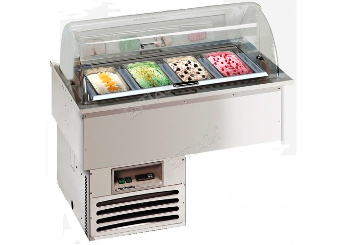 Ψυγείο παγωτού 4 θέσεων Gelatissimo 4 TECFRIGO