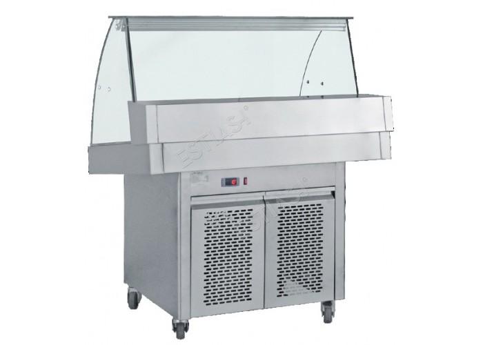 Ψυγείο βιτρίνα κλειστού τύπου διαστάσεων 150εκ