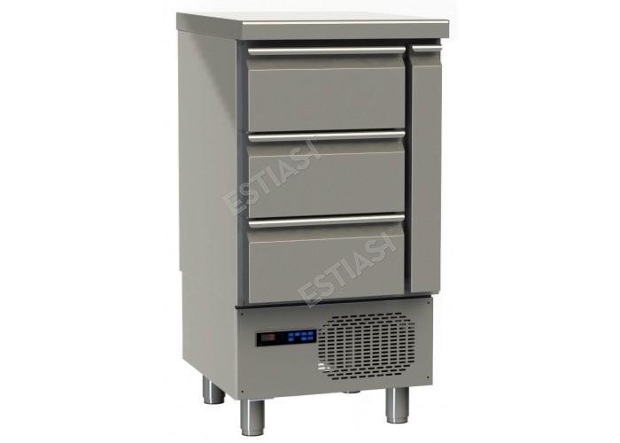 Ψυγείο ψαριών 57εκ με 3 συρτάρια GINOX