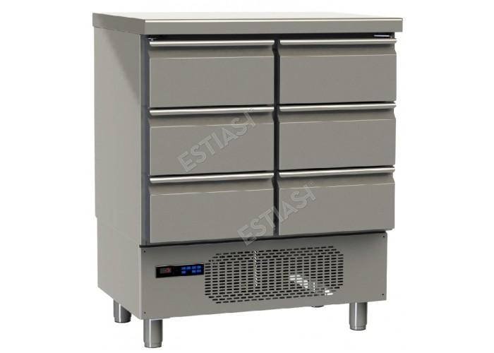 Ψυγείο ψαριών με 6 συρτάρια GINOX