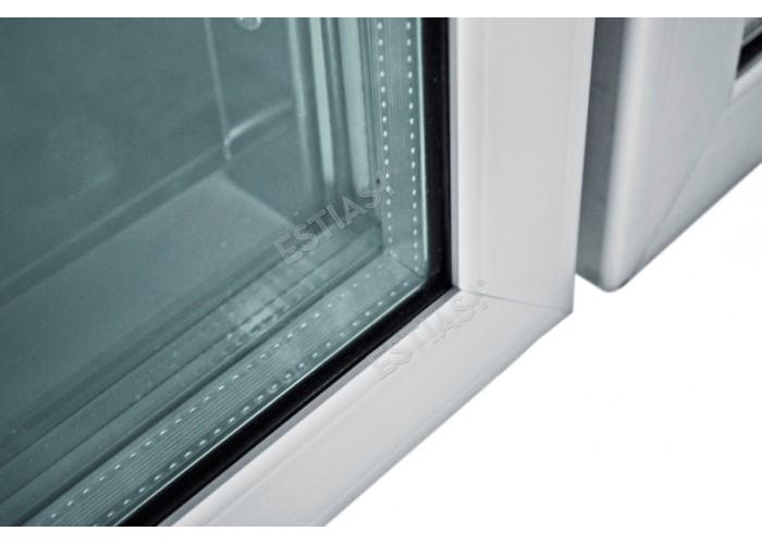 Επαγγελματικός θάλαμος ψύξης με διπλό κρύσταλλο στις πόρτες