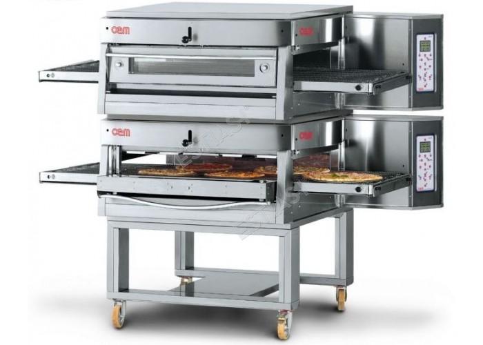 Επαγγελματικός φούρνος πίτσας τούνελ αερίου OEM για 220 πίτσες
