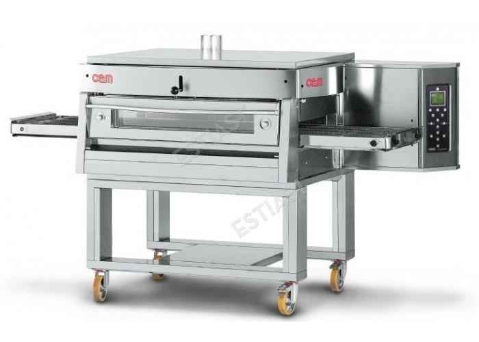 Επαγγελματικός φούρνος πίτσας τούνελ αερίου OEM για 63 πίτσες