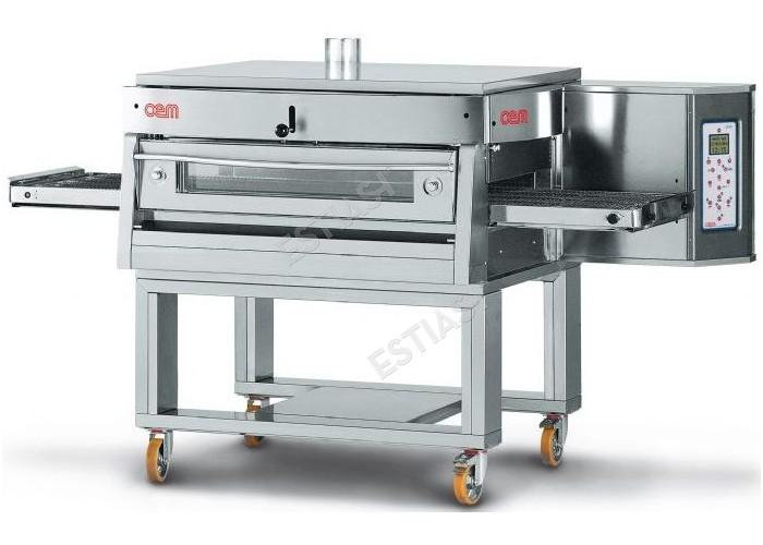Επαγγελματικός φούρνος πίτσας τούνελ αερίου OEM για 110 πίτσες