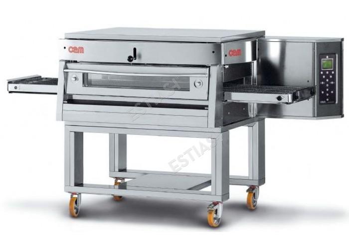 Επαγγελματικός ηλεκτρικός φούρνος πίτσας τούνελ OEM για 60 πίτσες