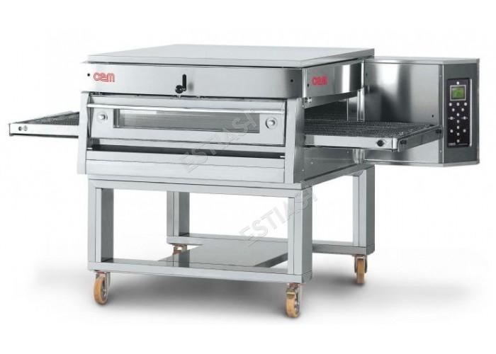Επαγγελματικός ηλεκτρικός φούρνος πίτσας τούνελ OEM για 105 πίτσες
