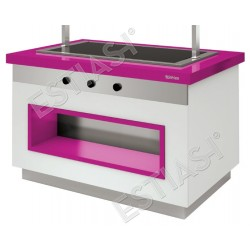 Salad bar θερμαινόμενο για 3 GN 140εκ INFRICO