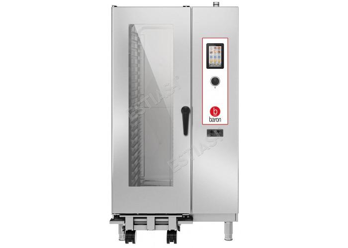 Επαγγελματικός φούρνος Combi αερίου 20 θέσεων Baron OPVGT201