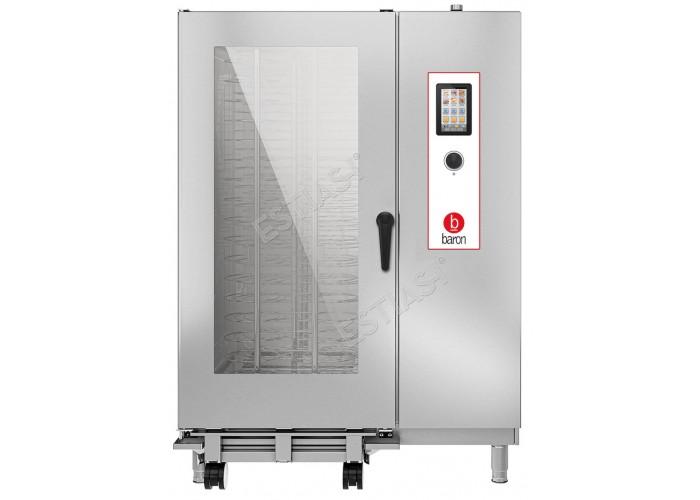 Επαγγελματικός φούρνος Combi αερίου 40 θέσεων Baron OPBGT202 με μπόιλερ